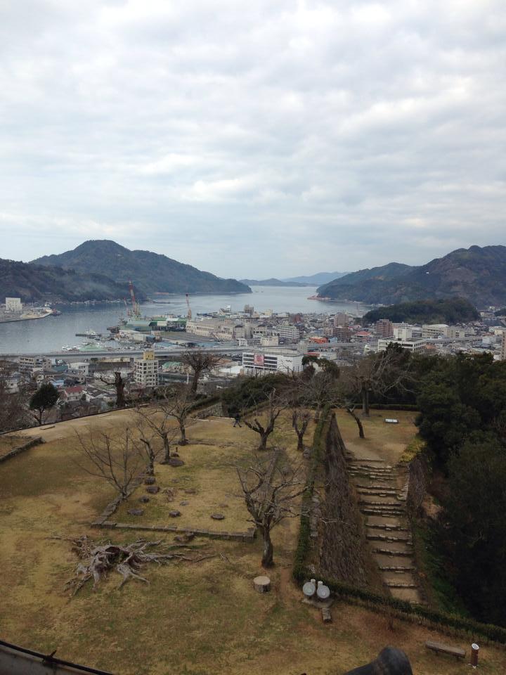 天守閣からの眺め 長野さん提供
