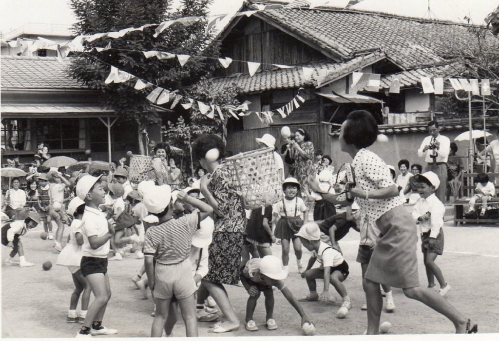 鶴城幼稚園運動会籠入れ