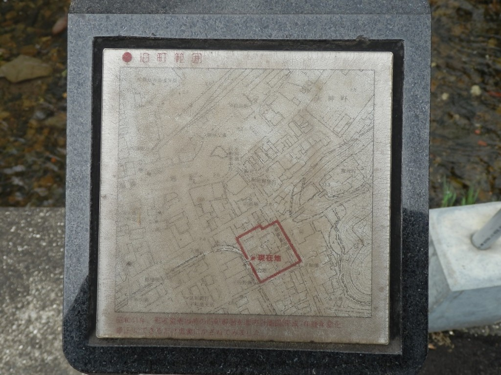 龍光院前 名称碑 範囲地図