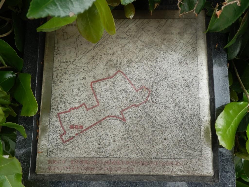 向新町 名称碑 範囲地図