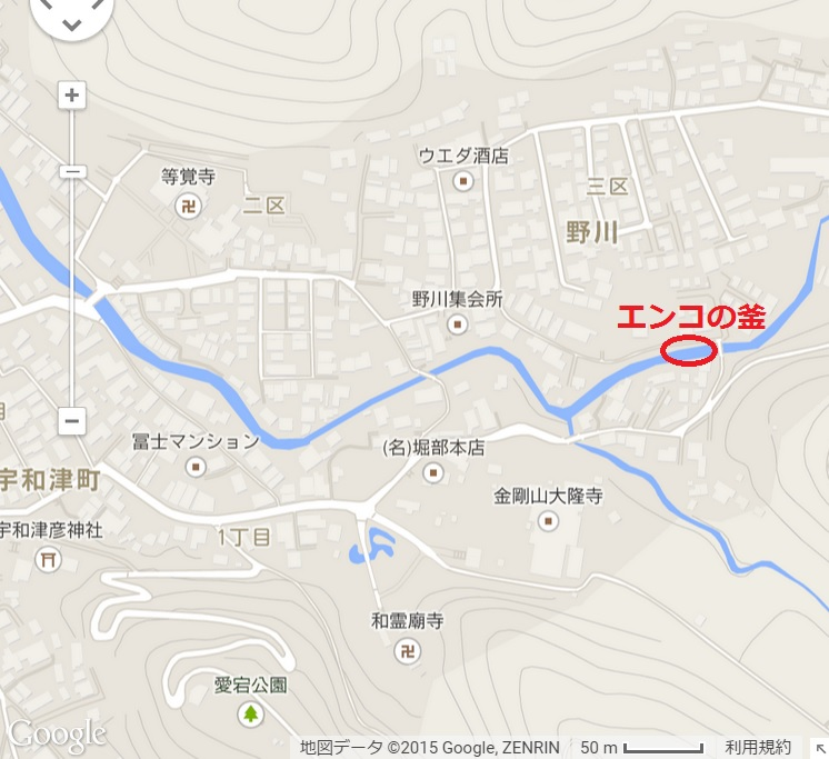 エンコの釜 地図